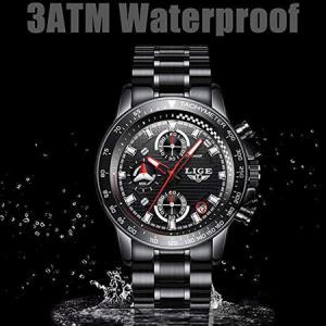 Ceas barbatesc, Lige, Business, Luxury, Elegant, Quartz, Cronograf, Calendar, Rezistenta la apa 3ATM4
