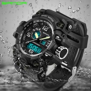 Ceas barbatesc, Sanda, Militar, Army, Sport, Analog, Digital, Alarma, Mecanism Quartz, Cronometru, Calendar, Cronograf2