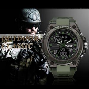 Ceas barbatesc, Sanda, Militar, Dual-time, SHOCK Resistant, Mecanism Quartz, Analog, Digital, Casual, Sport, Cronometru, Alarma, Army Green3