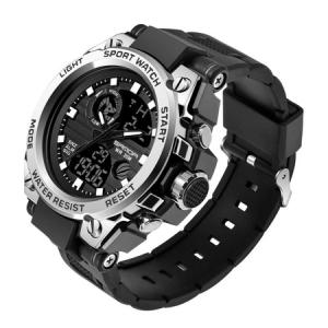 Ceas barbatesc, Sanda, Sport, SHOCK Resistant, Dual time, Analog, Digital, Casual, Cronometru, Alarma2