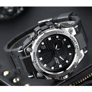 Ceas barbatesc, Sanda, Sport, SHOCK Resistant, Dual time, Analog, Digital, Casual, Cronometru, Alarma6
