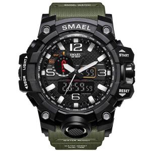 Ceas Barbatesc Smael, Shock resistant, Militar, Army, Sport, Dual time, Cronometru, Alarma, Rezistent la apa1