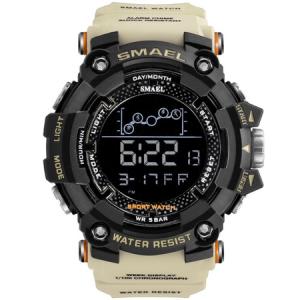 Ceas barbatesc Smael, Shock resistant, Militar, Sport, Army, Digital, Dual time, Cronograf [1]