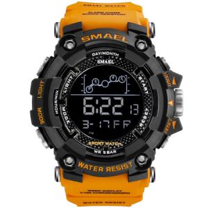 Ceas barbatesc Smael, Shock resistant, Militar, Sport, Digital, Army, Dual time, Cronograf1