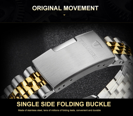 Ceas barbatesc Tevise Elegant Mecanic Automatic Mecanism Tourbillon5