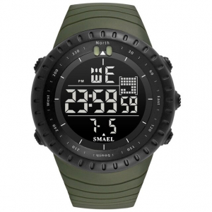 Ceas barbati Smael 1237, Sport, Digital, Rezistent la socuri, Army Green [0]