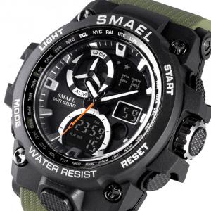Ceas barbati Smael 8011, Army, Digital, Cronograf, Sport, Militar2
