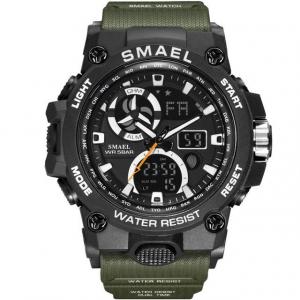 Ceas barbati Smael 8011, Army, Digital, Cronograf, Sport, Militar0