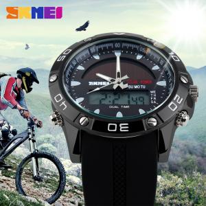 Ceas barbati Sport Solar Cronograf Dual Time Alarma Curea PU2