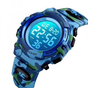 Ceas copii Skmei Digital Sport Army Alarma Cronometru0