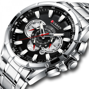 Ceas Curren Sport Otel inoxidabil Cronograf Luxury Business Fashion0