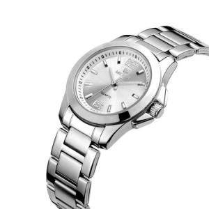 Ceas dama, Megir, Elegant, Clasic, Mecanism Quartz, Afisaj analog, Afisaj 24h, Ora / Minut / Secunda, Argintiu2