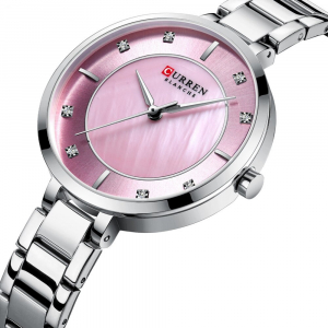 Ceas de dama original, Curren, Ceas pentru femei elegant, Quartz, Otel inoxidabil0