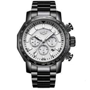 Ceas de mana barbatesc, Lige, Analog, Business, Luxury, Cronometru, Cronograf, Otel inoxidabil1