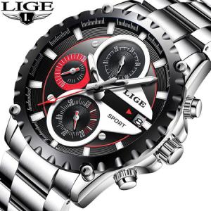 Ceas de mana barbatesc, Lige, Elegant, Luxury, Business, Mecanism Quartz Japonez, Timp precis, Cronograf, Rezistenta la apa 3ATM [2]
