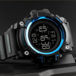 Ceas de mana barbati Militar Army Digital Cronograf Rezistent la apa si socuri3
