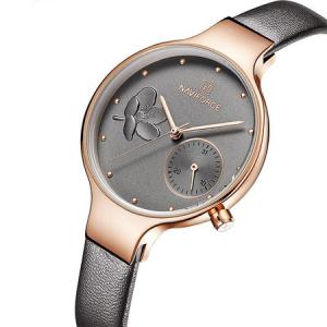 Ceas de mana dama, Casual, Elegant, Fashion Naviforce, mecanism Quartz Seiko, curea din piele naturala8