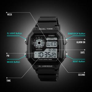 Ceas de mana pentru barbati Casual Cronograf Alarma Otel inoxidabil2