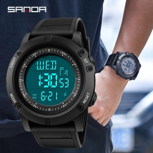 Ceas digital, Sanda, Shock Resistant, Baterie Maxell, Cronometru, Cronograf, Alarma2
