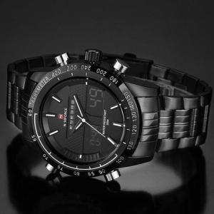 Ceas Naviforce clasic multifunctional, afisaj analogic si digital, mecanism Quartz, rezistent la apa 5Bar, alarma si cronometru [4]