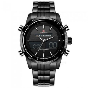Ceas Naviforce clasic multifunctional, afisaj analogic si digital, mecanism Quartz, rezistent la apa 5Bar, alarma si cronometru [1]