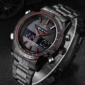 Ceas Naviforce clasic multifunctional, rezistent la apa 5Bar, mecanism Quartz, afisaj digital si analogic, alarma si cronometru3
