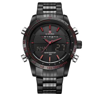 Ceas Naviforce clasic multifunctional, rezistent la apa 5Bar, mecanism Quartz, afisaj digital si analogic, alarma si cronometru1