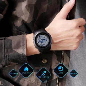 Ceas smartwatch inteligent barbatesc Bluetooth Digital Monitorizeaza bataile inimii Pedometru Calorii2