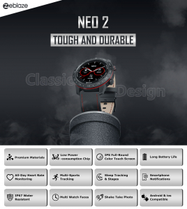 Ceas smartwatch, Inteligent, Zeblaze, Monitorizare sanatate & fitness, Bluetooth 5.0 Android/IOS14
