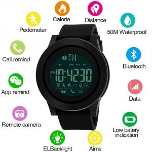 Ceas smartwatch Skmei 1255, Pedometru, Calorii, Distanta, Bluetooth, Buton Fotografiere [2]