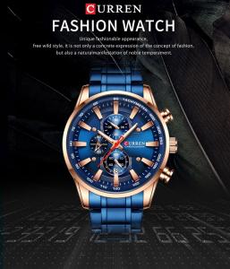 Curren Top Brand, Ceas barbatesc casual, Luxury, Otel inoxidabil, Cronograf, Quartz3