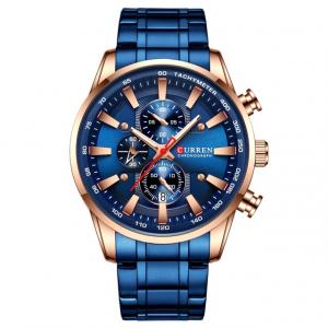 Curren Top Brand, Ceas barbatesc casual, Luxury, Otel inoxidabil, Cronograf, Quartz1