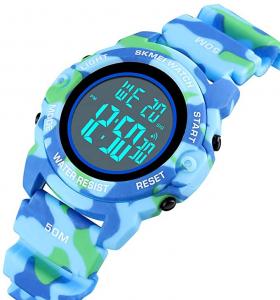 Skmei Ceas copii Digital Cronometru Alarma Calendar Zilele saptamanii0