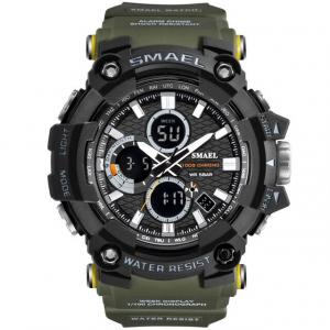 Smael Ceas barbatesc Army Cronograf Dual Time Militar Rezistent la socuri si apa0