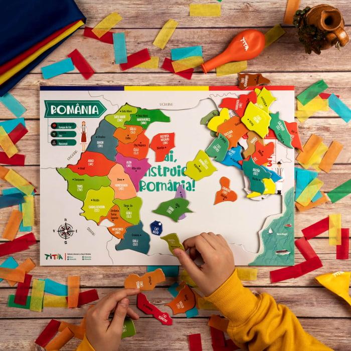 Construiește România - Puzzle în 3 straturi - Județe, Regiuni, Relief [7]