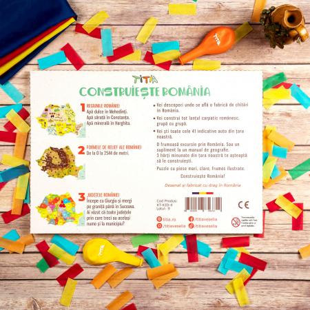 Construiește România - Puzzle în 3 straturi - Județe, Regiuni, Relief [6]