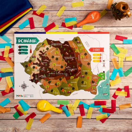 Construiește România - Puzzle în 3 straturi - Județe, Regiuni, Relief [5]