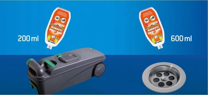Duo Tank Cleaner – solutie concentrata 800 ml, pentru curatare periodica WC si rezervor apa gri rulote si autorulote [1]