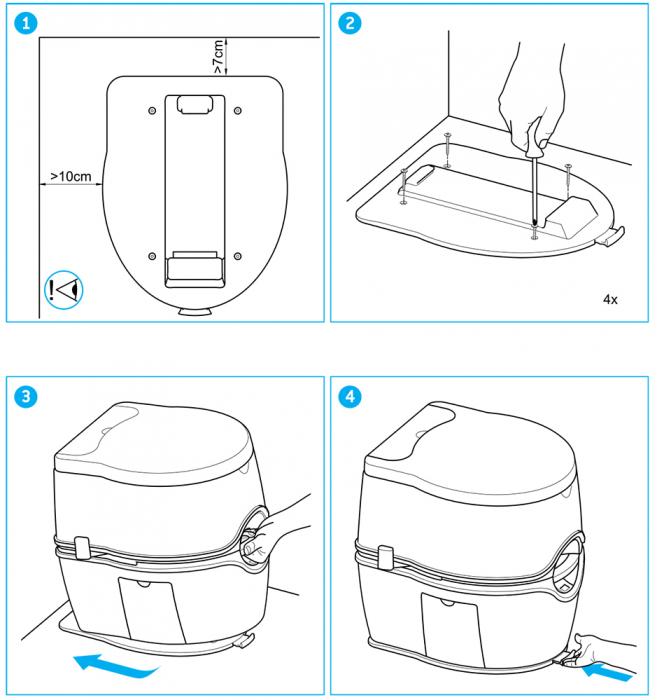 Suport fixare pentru Porta Potti Excellence - Thetford (Floor Plate) [2]
