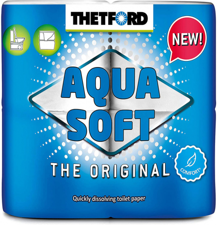 Aqua Soft - Hartie igienica solubila pentru toaletele portabile Porta Potti [0]