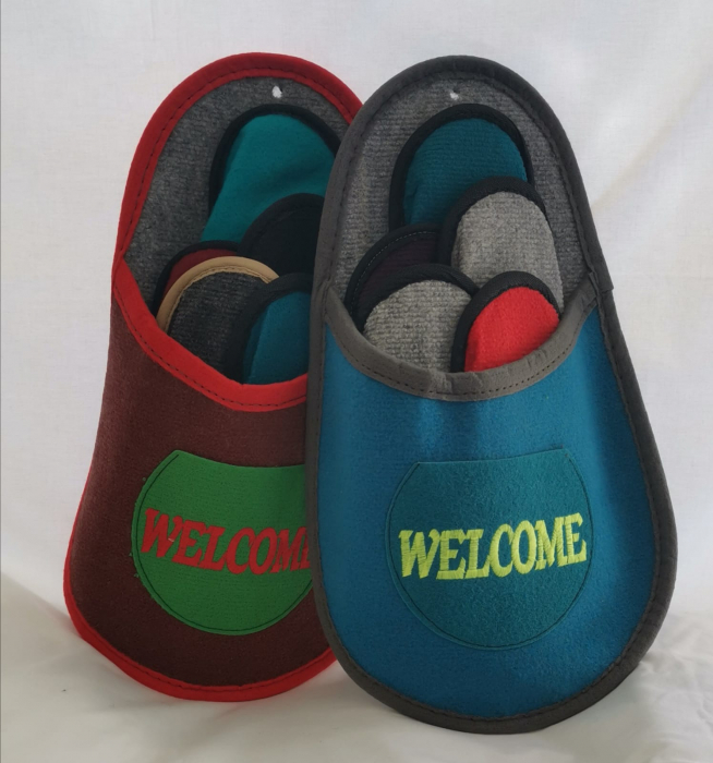 "Papuci musafir 5 in 1 ""WELCOME"" 0"