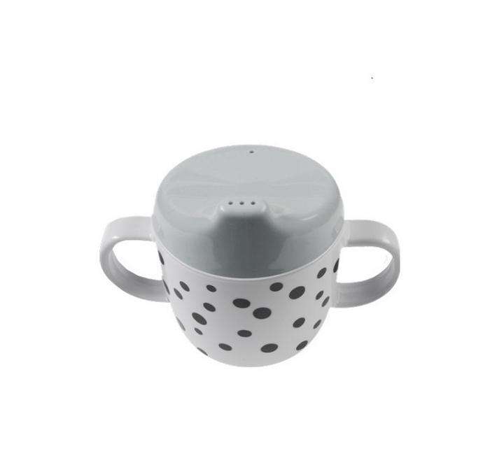 Canuta cu cioc si manere Grey Dots 0