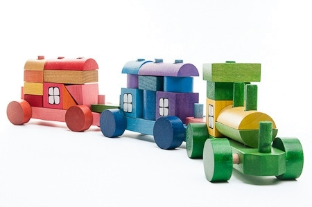 Trenulet din piese colorate 52 cm MINI 1