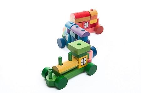Trenulet din piese colorate 52 cm MINI 2
