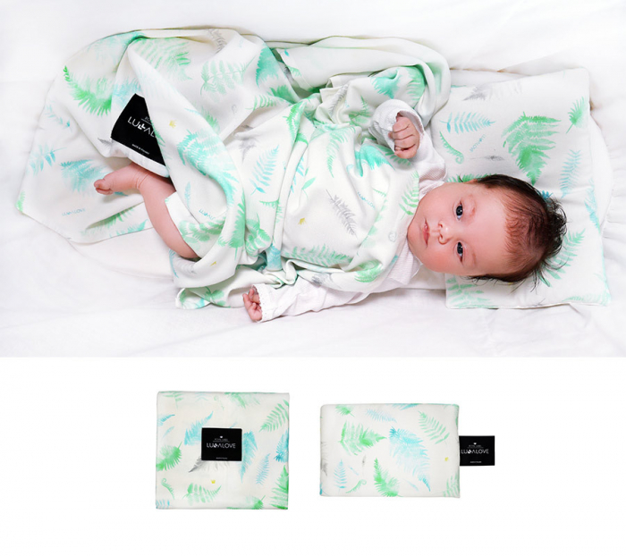 Muselina de infasat  - 100 x 100cm - Feriga verde 1