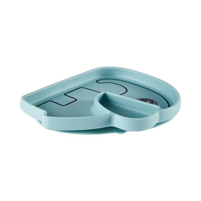Farfurie silicon Stick&Stay Blu Elphee [1]