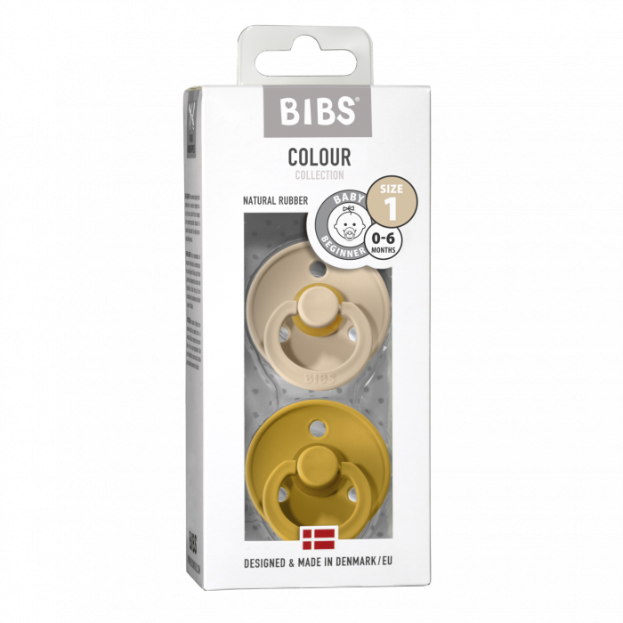 2 Pack Bibs Colour Vanilla / Mustard Size 1 (0-6 luni) - Bibs Denmark [0]