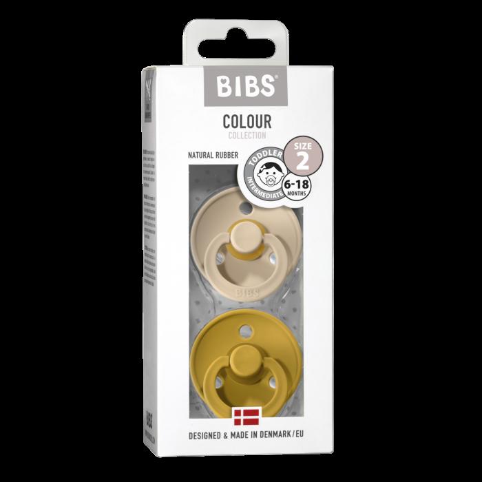 2 Pack Bibs Colour Vanilla / Mustard Size 2 (6-18 luni) - Bibs Denmark [0]