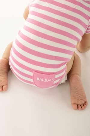 Body Pink Striped by Juddlies 0-3 luni 0