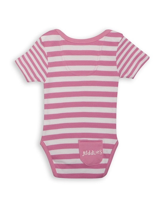 Body Pink Striped by Juddlies 0-3 luni 2